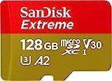 SanDisk Extreme - Tarjeta de memoria microSDXC de 128GB con adaptador SD,...