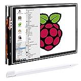 Quimat 3.5 pulgadas Pantalla, Batería para Raspberry Pi 3 2 1 (Pantalla de...