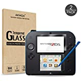 AKWOX [2 Set] Nintendo 2DS Protector de Pantalla, [Resistente a Arañazo]...