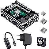 Smraza para Raspberry Pi 3 b+ Caja con Cargador de 5V / 3A con Conector...